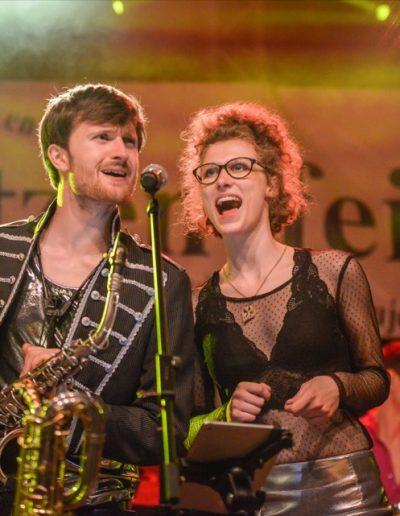 Judith - Saxophonistin & Model Leipzig mit FonkRaiders - Bautzener Frühling